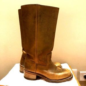 Frye campus 14l banana tan bronze boots size 7